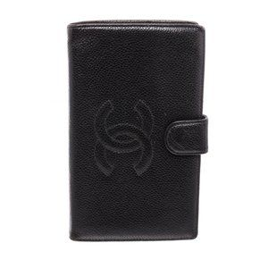 Chanel Black Caviar Leather Timless Purse Wallet